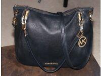 Genuine Michael Kors Black Leather Brooke Bag Medium