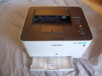 Samsung colour laser clp 365-w printer plus extra spare cartridges - black, yellow, cyan genuine