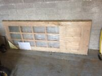 2x hard wood doors (never used) with glass panels