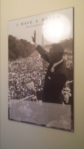 Martin Luther King Jr wood laminated print / poster