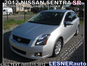 2012 NISSAN SENTRA SR-AUTO LOADED SPORTIER more Premium-69,000KM