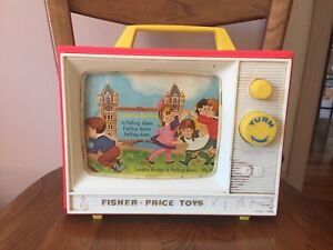 Vintage Fisher Price Music Box TV