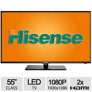 "Hisense 55K20dg 55"" Led 1080P 120Hz Hdtv."