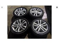 "Vauxhall SRI 17"" alloy wheels (3 with good tyres 215/50/17)"