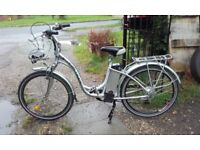 Ladies battery assisted bicycle, in very good condition.