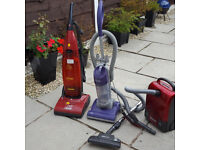 3 Vacumm Cleaners 2 power on 1 does not spares or repair , Hoover 1900w ,Gtech CY01,Genie Vac