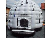 Disco domes bouncy castle