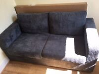 Leigh Jumbo Cord Sofa Bed Slate (2 seater) for sale - great condition