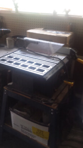 """Mastercraft 10""""table saw with stand and attachments"""