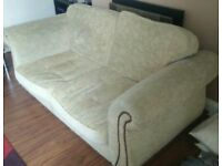 *COLLECTION ONLY* COFFEE COLOURED SOFA
