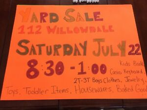 112 Willowdale Drive - YARD SALE (8:30am - 1:00pm)