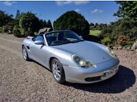 2001 Porsche Boxster 2.7. Last owner 10 years. Only 68,000 miles and MOT to July 2018..