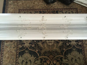 "Wooden Blinds 2"", 2 - white 22"" w, 1 - brown 32"" w, 1 - 5' white"