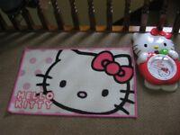 Hello Kitty Rug & Clock