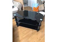 Black Glass TV stand - normal retail £75