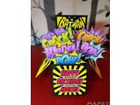 Handmade Pop Up Box Cards Batman Unicorn Baby Dr Who Minecraft