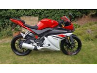 Yamaha YZF R125 2015 (ABS), 12 months Mot, free warranty & free delivery