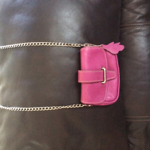 Authentic Leather Roots Cross body Purse