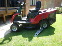 Mountfield 827H Compact Lawn Rider with mulching plug.