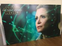Star Wars Carrie Fisher Poster