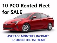 PCO/UBER Rented Fleet for SALE with 10 cars, current income £6,000-£8,000 a month