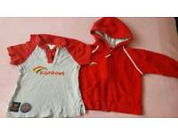 Girls Rainbows T-shirt and jacket