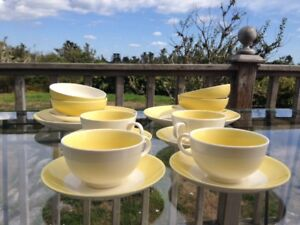 Retro cups, saucers, cereal bowls
