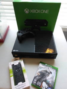 10/10 Like New Xbox One with Controller,Media Remote & Watch Dog