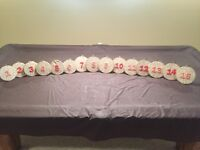 Rustic Wedding Decorations, table numbers, banners