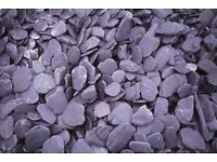 40 mm plum or blue slate garden and driveway chips