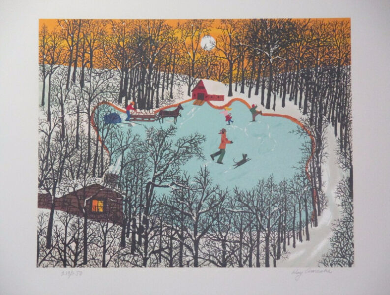 Limited Edition Serigraph Print Winter by Kay Ameche!