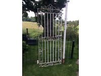 Tall Decorative Wrought Iron Gate with Post and Hinges