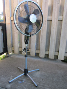 $25 Airworks 16'' Oscillating Pedestal Fan with remote