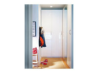 Ikea Wardrobes pax single door FARDAL High-gloss white 50x229cm Article no 801.905.29 new in wembley