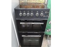 BLACK FLAVAL CHROME DESIGN NEW MODEL 50cm ELECTRIC COOKER, EXCELLENT CONDITION 4 MONTHS WARRANTY