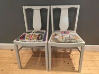 Two reconditioned dining chairs