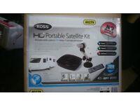 ROSS PORTABLE CARAVAN CAMPING SATELLITE KIT HD SYSTEM COMPLETE KIT IN CASE 60279 BRAND NEW