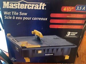 Brand new Tile saw, Mastercraft for sale
