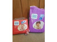 2 packs of nappies size 4