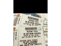 2 x V Festival Tickets WEEKEND ONLY - WESTON PARK