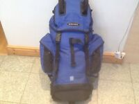 Tough and rugged Eurohike Pathfinder 55(litre)rucksack with pockets,pouches,pole loops &raincover