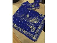 Royal Blue stone work saree