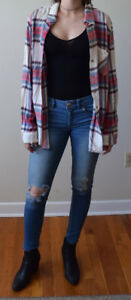 plaid and button up tops