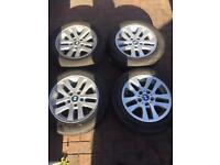 "Bmw 3 series e90 16"" alloy wheels with run flat tyres"