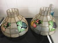 Two lampshades for sale