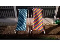 LOVELY RETRO CHILDRENS SUN LOUNGERS