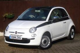 FIAT 500 1.2 LOUNGE 3DR #JUST ONE OWNER FROM NEW #HPI CLEAR #PAN ROOF #2 KEYS