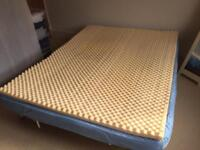 "Memory foam mattress topper - king size, 2"""