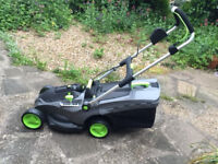 GTECH cordless lawnmower with charger