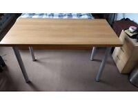 Ikea Vika Amon table/desk - Oak Veneer